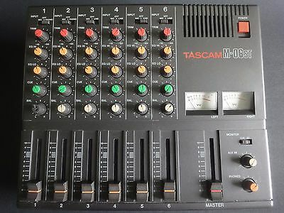 Tascam M-06ST, 6 Channel Stereo Mixer, Preamp, Equalizer, VU Meters, Vintage
