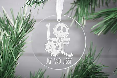 Nightmare Before Christmas Decoration Ornament, Glass Christmas Decoration.