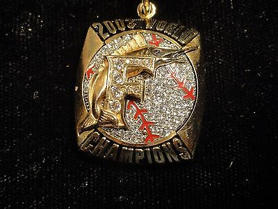Florida Marlins~2003 World Series Champions~10K Gold~Ring Top Pendant~Wow!