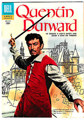 FOUR COLOR #672 (FN/VF) QUENTIN DUWARD Golden-Age Movie Classic 1955 Dell Comic