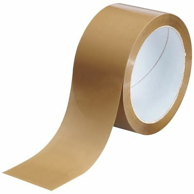 """72 Big Rolls Brown Buff Tape Box Packaging Parcel Packing Sellotape 2""""48Mm X 66M"""