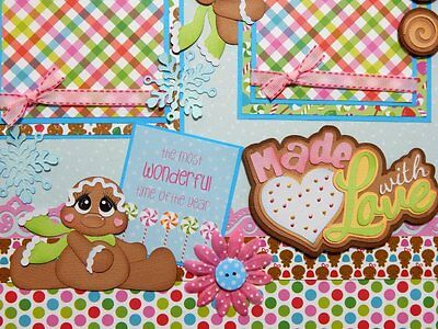 Christmas Cookies Gingerbread House premade scrapbook pages paper piecing layout