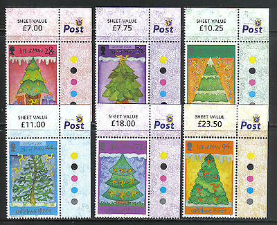 Isle of Man 2006 Christmas/Trees--Attractive Art Topical (1172-77) MNH