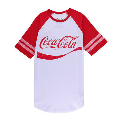 Men's Coca-Cola Raglan Tee  T-Shirt Size Large