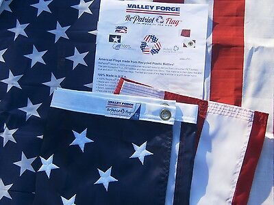 *NEW* Valley Forge US American Flag 3'x5' RePATRIOT -Recycled Plastic Bottles!