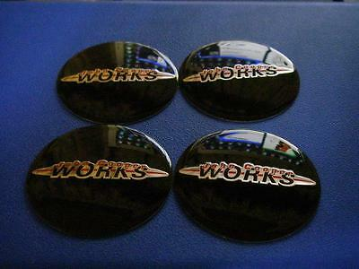 JOHN COOPER WORKS WHEEL BADGE for MINI Cooper R50-R61 4pcs Set JCW GP
