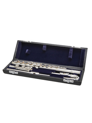 Brand NEW Syrinx Student Flute With Curved Headjoint Silver Plated Closed Holes