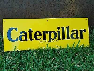 """Antique Vintage Old Style Caterpillar Sign 23""""!"""