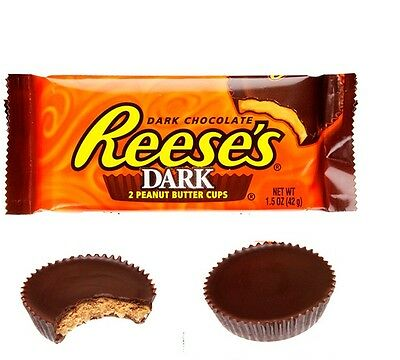 2 x USA Reese's Dark Chocolate Peanut Butter Cup 43g, 2  in Each Packet