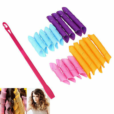 18Pcs Hair Rollers Hot DIY Curlers Large Magic Circle Spiral Styling Tools