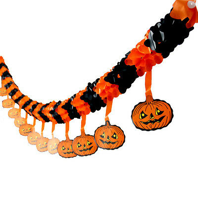 Spider Pumpkin Scary Witch Garland Halloween paper Decoration Haunted House Prop