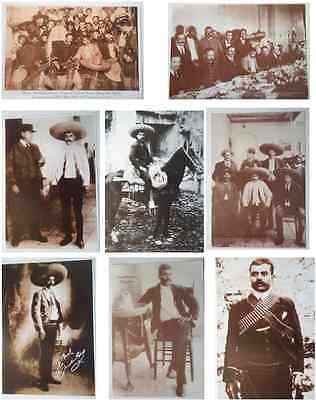 """set of 8 posters photos of mexican revolution EMILIANO ZAPATA lot 16"""" x 11"""""""