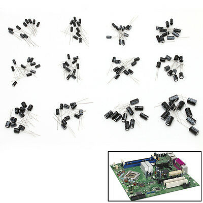 120pcs 12 Values 1uF-470uF Assorted Electrolytic Capacitor Assortment Radial Kit