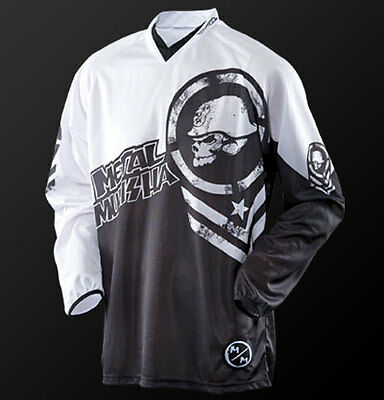 Metal Mulisha Optic MX Jersey Motorbike Motorcycle BMX Black White