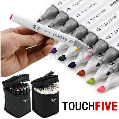30 Colors TouchFive Twin Tip Stylo Graphique Art Animation Marker Fine Point Sac
