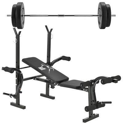 30 KG Hantelbank Langhantel Trainingsbank Hantelset Kraftstation Fitness Bank