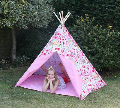 Pink Wigwam Teepee Large Play Tent Indoor or Outdoor - Your child will love this