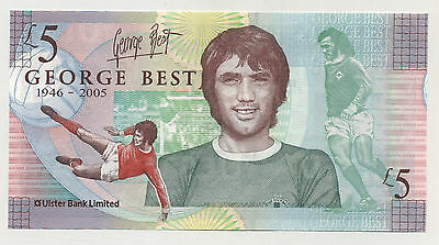 Ireland Northern 5 Pounds 25-11-2006 Pick 339 UNC Banknote George Best