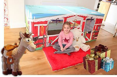 Pony Horse Stables 6ft Table Den Play House Kids Play Tent - GREAT KIDS GIFT