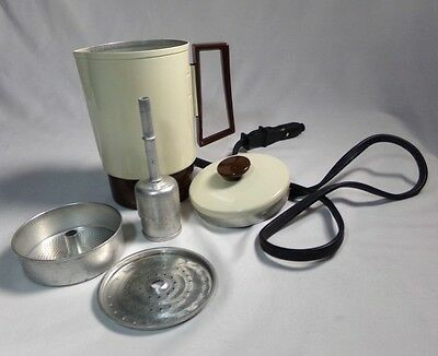 Vintage Coffee Maker Mini Travel Car Plug In Camping Truck Drivers Coffee Pot