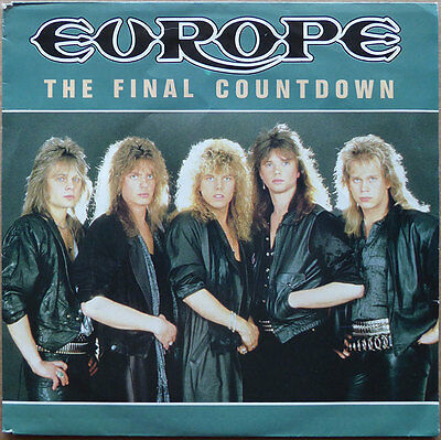 """7"""" Europe - The Final Countdown - Holland 1986 - VG+(+)"""