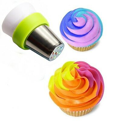 3-Color Coupler Candy Bag Icing Nozzle Cream Cake Russian Kitchen Mold Pastry