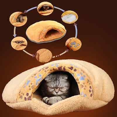 Warm Cat/Dog Kitten Cave Pet Bed House Puppy Sleeping Mat Pad Igloo Nest Comfy