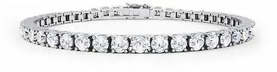 Stardust Diamond Silver Tennis Bracelet (7IN WHITE GOLD)