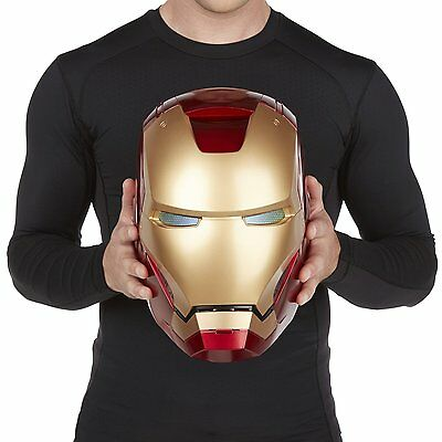Iron Man Helmet Adult Marvel Electronic Sound Effects Legends Cosplay 1:1 Mask