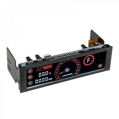 Lamptron CM430 PWM Fan Controller with Black Housing & Red Lights