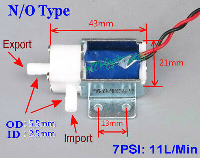 DC 12V Micro Electric Solenoid Valve N/O Normally Open For Water Gas Air Valve S
