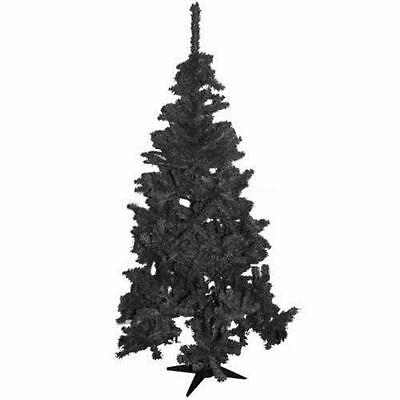 6Ft/180Cm Christmas X'mas Decoration Tree With Stand & 400 Tips Pine Black