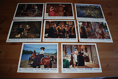 Vintage Cinema Lobby Cards - The Tall Men, 1958 - Set of 8