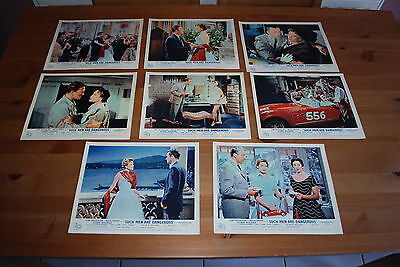 Vintage Cinema Lobby Cards - Such Men Are Dangerous/The Racers, 1955 -  Set of 8