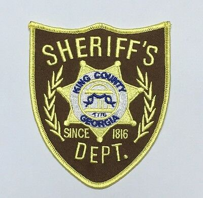 The Walking Dead King Country Sheriff Dept. Shoulder Patch -1869