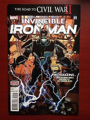 Invincible Iron Man #9 ~ Nm- (9.2) Or Better ~ 1St Full Appearance Riri Williams