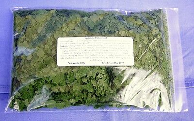 Spirulina flake food for discus angels tropical fish 100g.