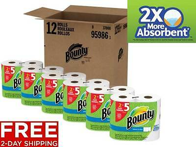 New Bounty Select-A-Size Paper Towels White Strong Huge Roll Absorbent 12 Count