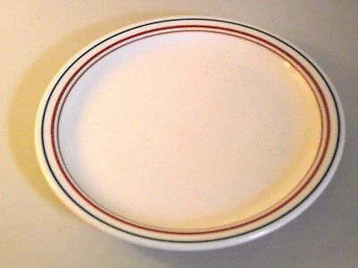"Syracuse China Restaurant Ware 8 1/4"" Luncheon Plate Brown Green Band"