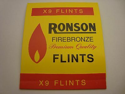 RONSON Firebronze Premium Quality Lighter Flints (x9) made in England FREE S/H