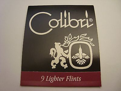 COLIBRI Universal Lighter Flints (x9) made in UK FREE S/H