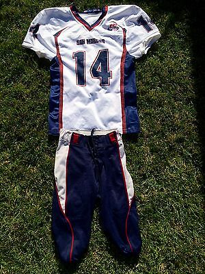 Pop Warner San Marcos CA Football Uniform Game Jersey and Pants, Youth XL
