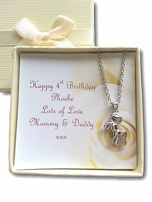 Girls pony horse lover necklace jewellery birthday party xmas gift present