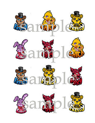 Five 5 NIGHTS at FREDDYS Edible Photo CUPCAKE Decoration Image Icing Topper fnaf