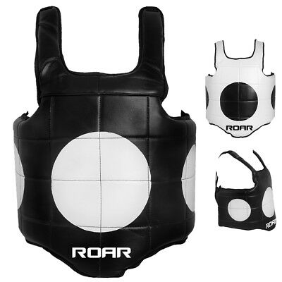 AKRON Boxing Chest Guard MMA Body Armour Vest Belly Training Muay Thai Kick Pad