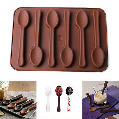 Silicone Baking Mould Spoon Shape Chocolate Cake Biscuit Candy Jelly Mold Decor