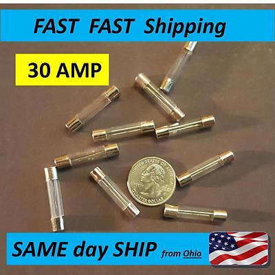 """FU4 15 Amp 30mm 1.25/""""    GLASS  FUSE    Pack of 10"""