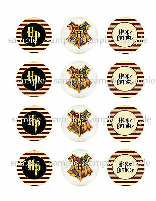 HARRY Potter Assorted Edible Photo CUPCAKE Decoration Images Icing Toppers