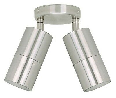 LED Double Adjustable Wall Light Outdoor Exterior Stainless Steel HV1372