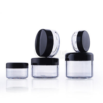 Empty Clear Cosmetic Jar Pot Eyeshadow Makeup Face Cream Container 5g 10g or 20g
